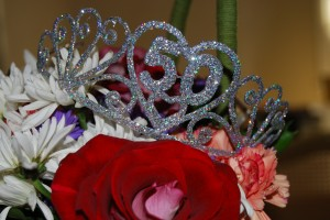 photo of flowers and a tiara for boomers turning 50