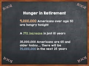 The number of Boomers and retirees who are hungry this holiday season is staggering...and growing.