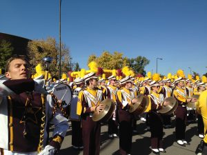 The marching band is a key element to every Big 10 football program.  Ski-U-Mah!  Rah-Rah-Rah!