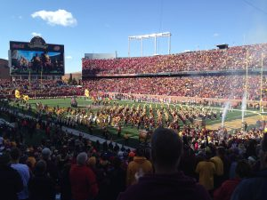 The start of UMN Big 10 Football games is wildly exciting!