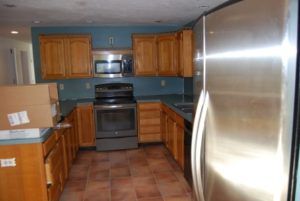 photo of new kitchen that needs a huge reno in our next 10 adventures