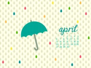 illustration of April for national everything financial month