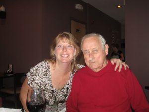 photo of guest author Susan Chanley with her dad