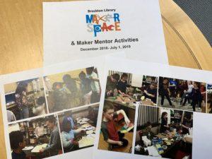 Volunteering in retirement. Photo of kids doing hands-on activities in Maker Space.