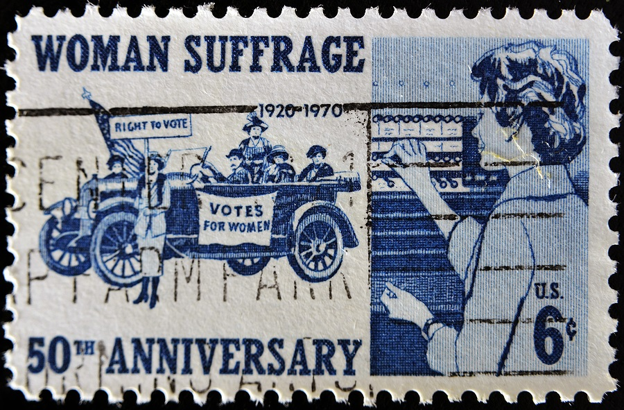 Women's suffrage 50th anniversary stamp
