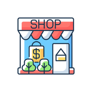 drawing of a small business shop