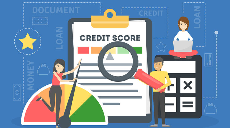 illustration of a credit score