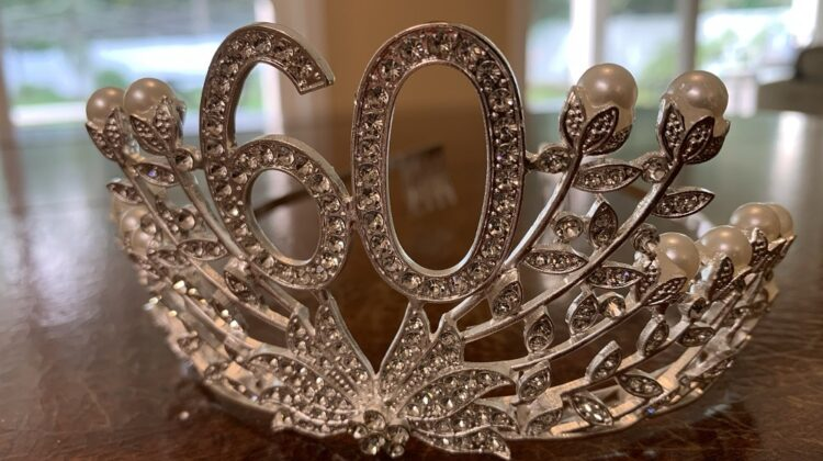 I bought my 60th birthday crown