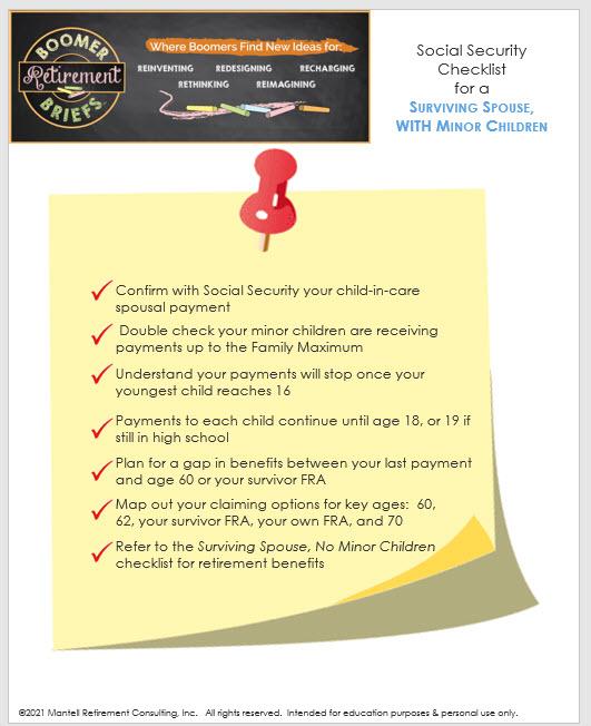 Checklist for widow(er)s with minor children