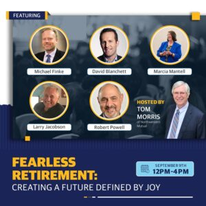 Poster for the Fearless Retirement Summit 2021